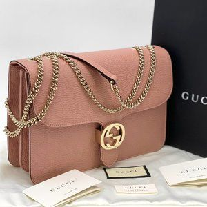 NWT GUCCI Interlocking G Medium Chain Bag